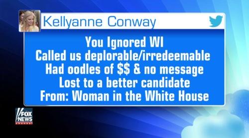 2017_05 06 Kellyanne to Hillary