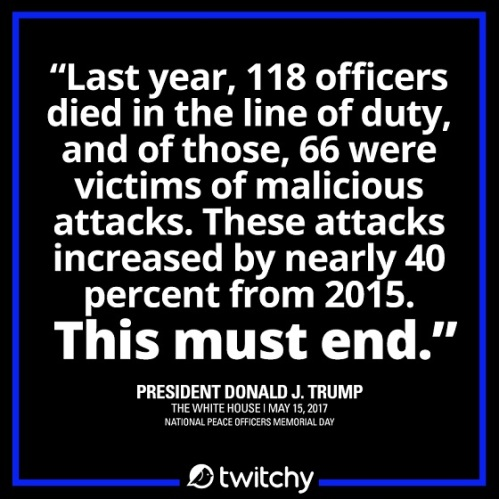 2017_05 15 Trump on officer deaths