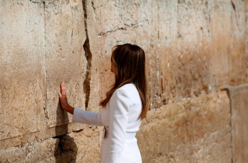 2017_05 22 Melania at Western Wall