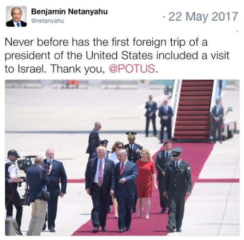 2017_05 22 Netanyahu welcomes Trump
