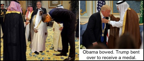 2017_05 Trump v Obama bowing