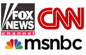 Cable news logos