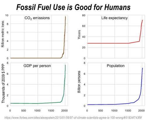 Fossil Fuel Use is Good for Humans