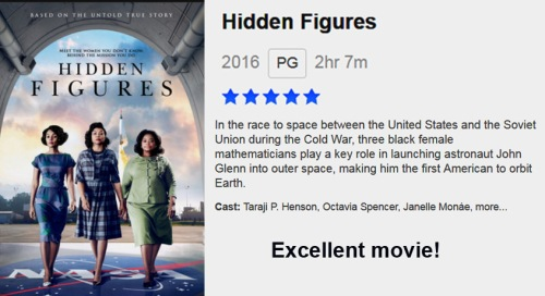 MOVIE Hidden Figures