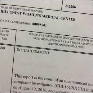 2017 Hillcrest violations