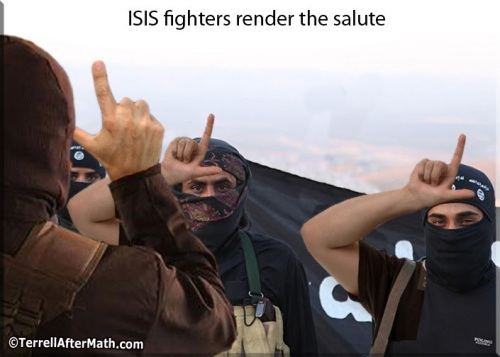 2017_05 25 ISIS salute by Terrell