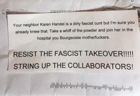 2017_06 15 Threatening note to Handel's neighbors