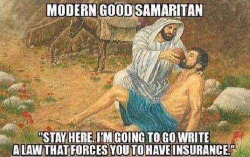 OBAMACARE modern good samaritan