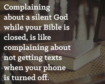 Complaining about silent God