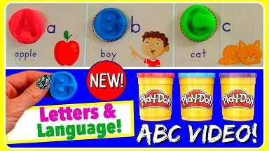 Play Doh Letters and Language
