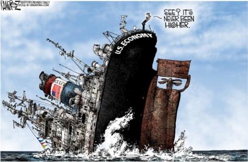2016_05 Economy sinking Obama cheering