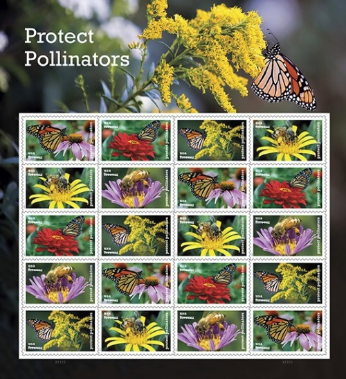2017 Protect Pollinators stamps