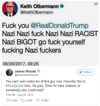 2017_08 28 Woods takes down Olbermann