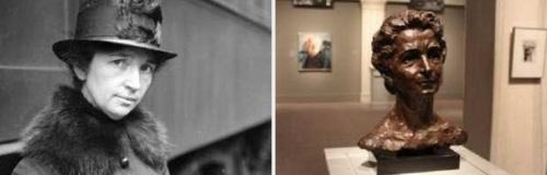 Margaret Sanger photo statue
