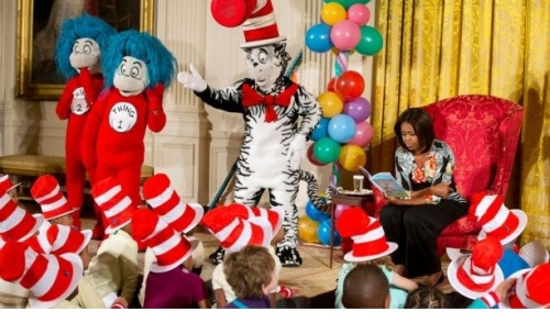 2015 Michelle Obama Dr Seuss