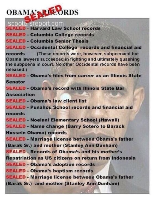 Obama's SEALED records