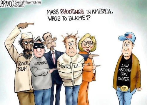 2016 Mass shooting blame by Branco