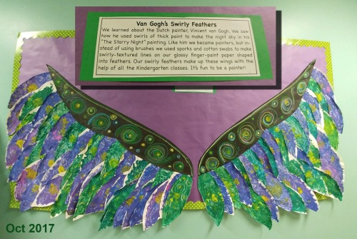 2017_10 13 Bunny's class art project