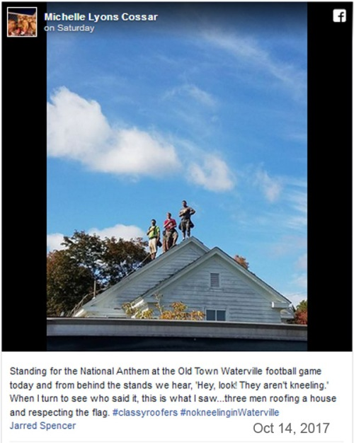2017_10 17 Roofers stand for anthem