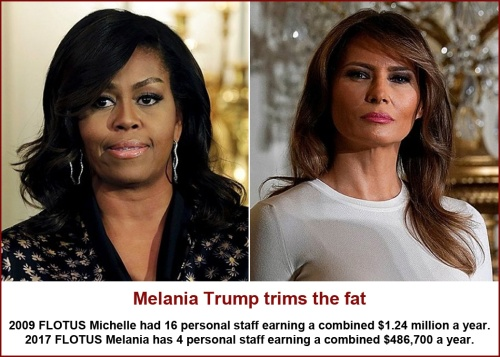 2017_10 20 Melania Trump trims the fat