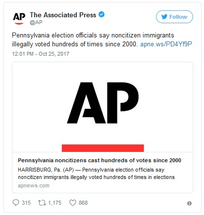 2017_10 25 AP voter fraud tweet