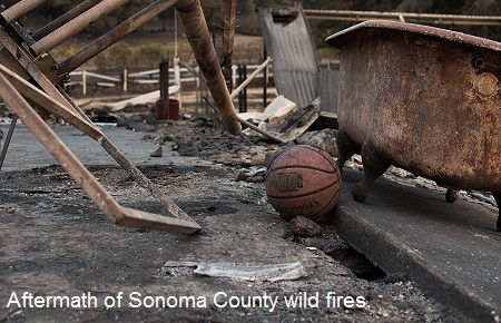 2017_10 Aftermath of Sonoma County wildfires