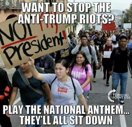 ANTHEM stop anti-trump protests