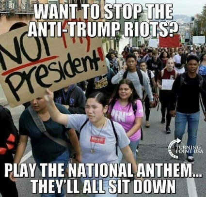 ANTHEM stop anti-trump protests