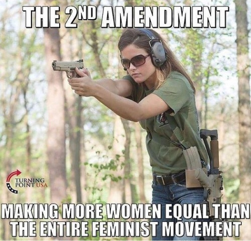 GUNS 2d Amendment and feminism