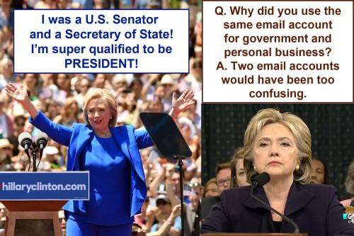 Hillary vs Hillary