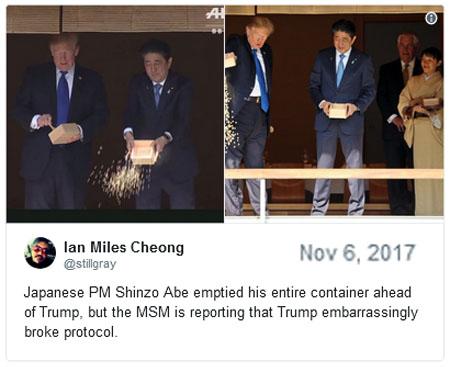 2017_11 06 Abe feeds koi