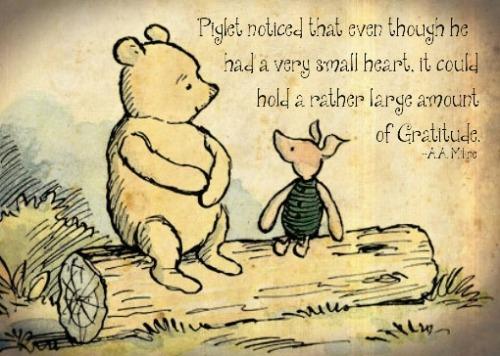 Gratitude by Piglet