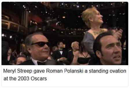 2003 Streep stands for Polanski