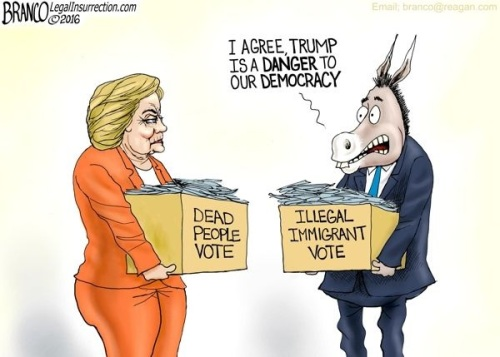 2016 Voter fraud toon by Branco