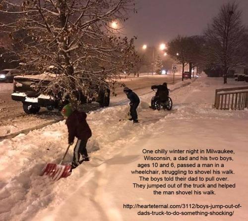 2016_12 Boys help shovel