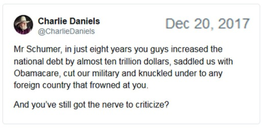 2017_12 20 Charlie Daniels ms to Schumer