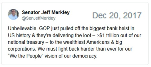 2017_12 20 Jeff Merkley tax tweet