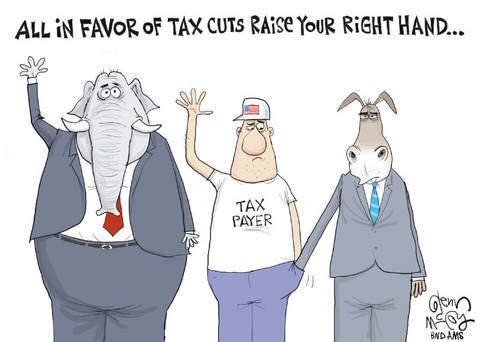 All in favor of tax cuts