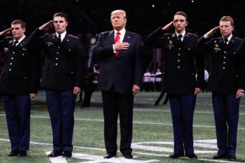 2018_01 08 Trump salutes flag