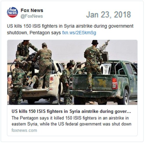 2018_01 23 US kills ISIS during shutdown