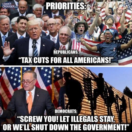 2018_01 Shutdown Trump v Schumer