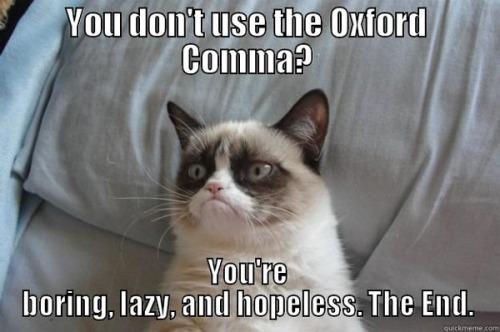 Comma boring lazy
