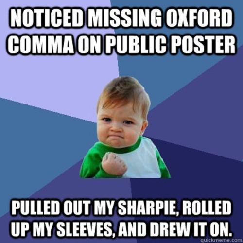 Comma drew it on