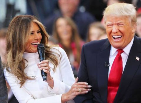 Melania and Donald LOLing