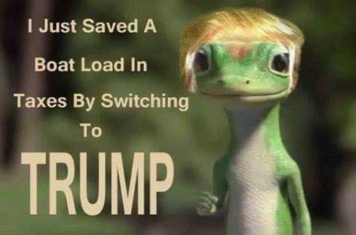 Saved by switching to Trump