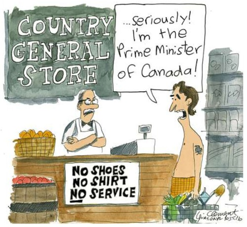 2016 Shirtless PM of Canada toon