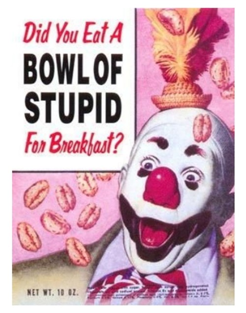 Bowl of stupid