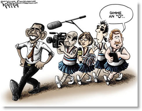 Obama Media Cheerleaders toon