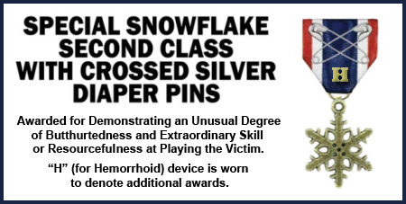 Special Snowflake Medal with H Device