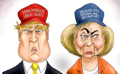 2016 Trump v Hillary campaigns